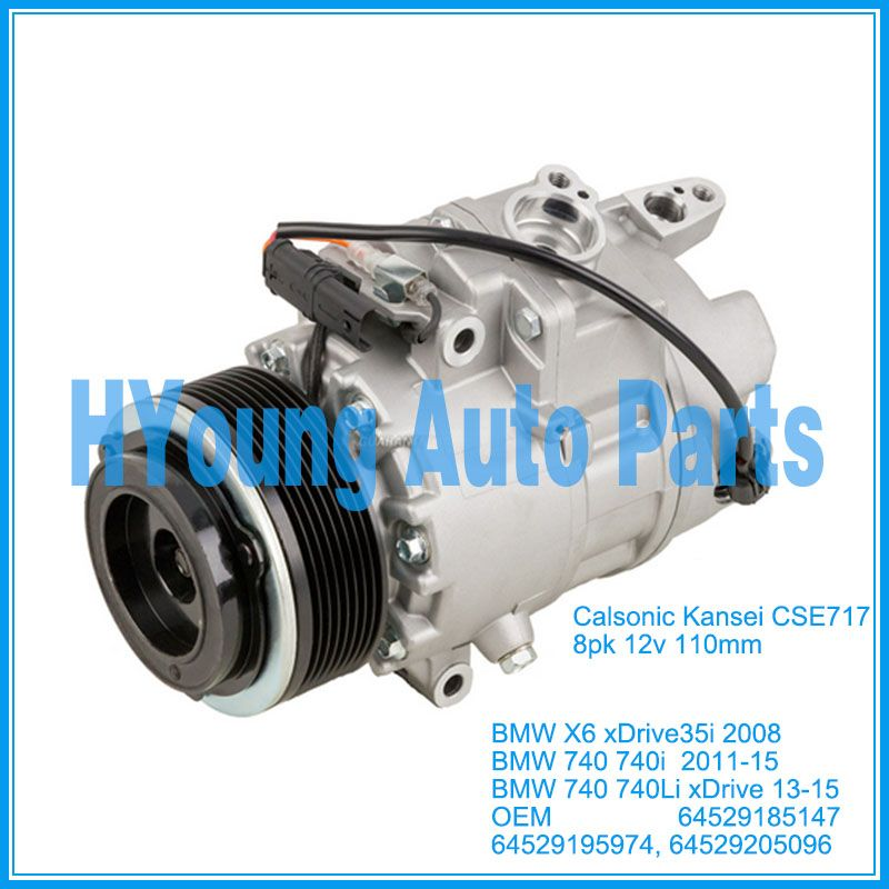 CSE717 auto air conditioning compressor for BMW X6 E71 740 740i xDrive 35i 2008- 2015 64529185147 64529195974 64529205096