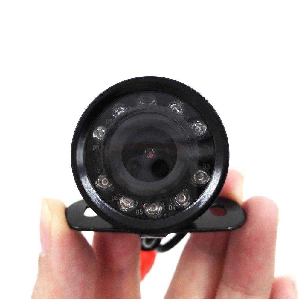 9LED Водонепроницаемый заднего вида CMOS Камера супер мини-бабочка Парковка Резервное копирование Реверсивный Cam без парковки линии (без кабел...