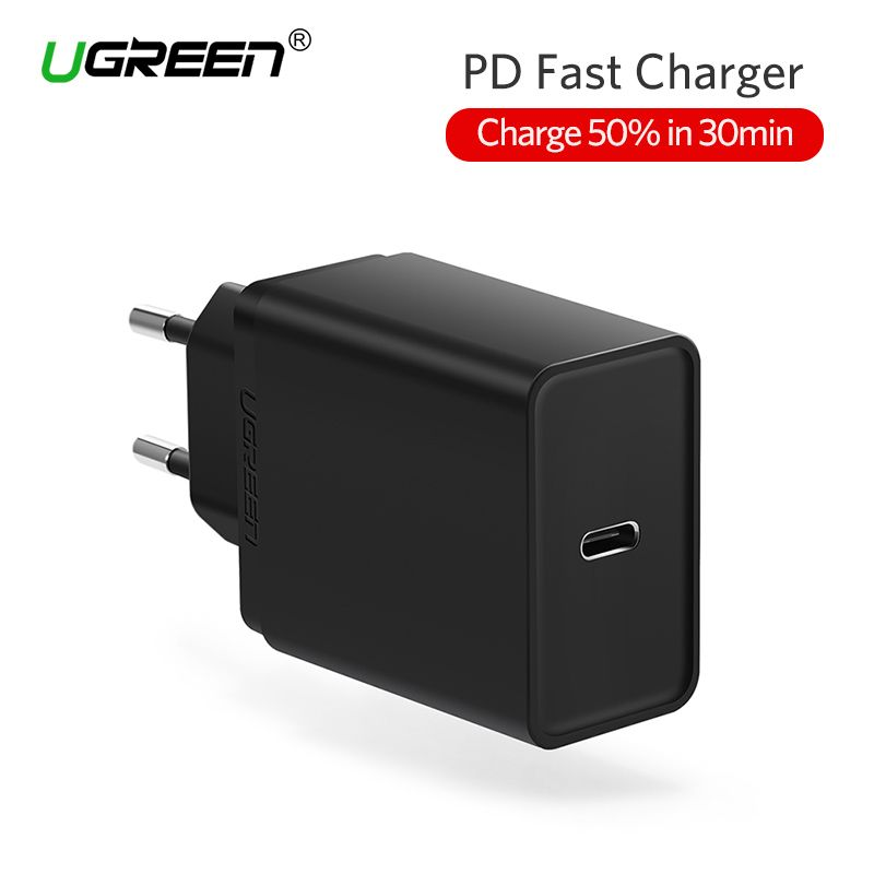 Ugreen 30W USB Type C Charger Fast Type-C Wall Charger Mobile Phone PD Charger for Nintendo <font><b>Switch</b></font> Macbook Nexus 6P/5X Lumia950