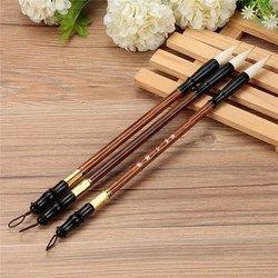 3 pcs/set Top Quality Chinese Kaligrafi Sikat Pena untuk Wol dan Musang Rambut Sikat Menulis Fit Untuk Siswa Sekolah