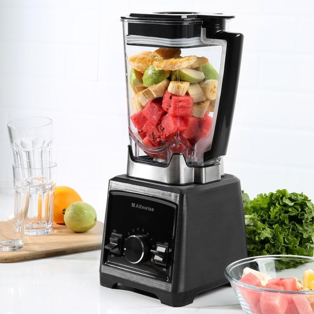 Alfawise Professionele 2L Mixer Mixer 30000 RPM Entsafter Voedsel Prozessor erfüllt 8 vlijmscherpe Klinge Power Für Home Marke Qualität