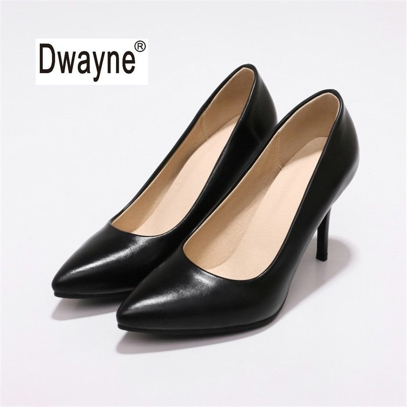 Big Size Women's Shoe 9cm High Heels Summer MF2 Good PU Pumps Party Shoes For Women Wedding Shoes 182-50
