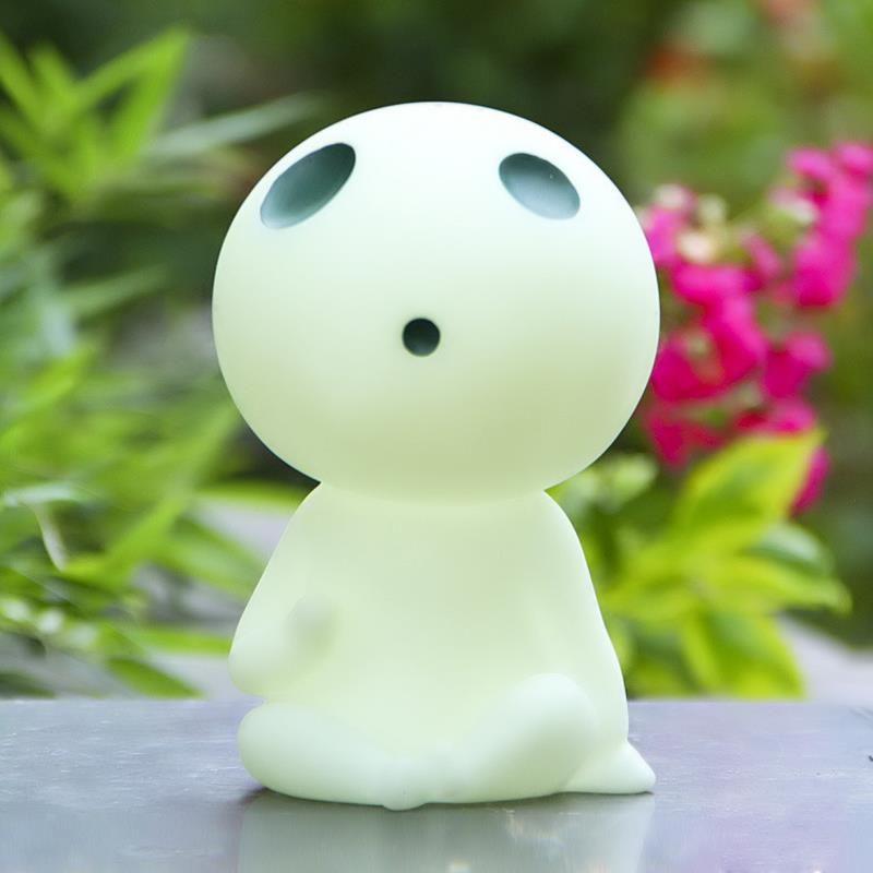 BRICOLAGE Miyazaki Hayao Princesse Mononoke Kodama Esprit de L'arbre PVC Figurines Jouets Collection Modèle Jouet Mignon Piggy Box Money Bank