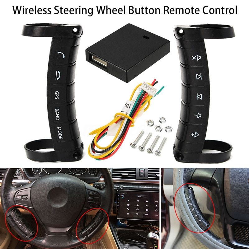 Universal Multi-function Wireless Steering Wheel Controller DVD Navigation Buttons Controller