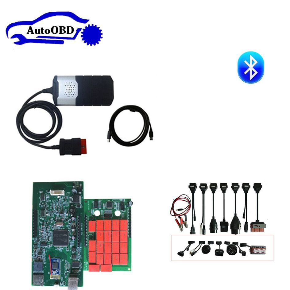 2015R3 with keygen/2016R0 free active CD for delphis vd ds150e cdp for autocoms cdp pro with bluetooth and 8pcs full set cable