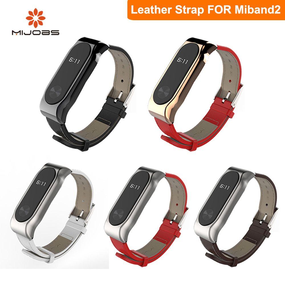 Mi Bracelet En Cuir Pour Xiaomi Mi Bande 2 Sans Vis Dragonne Bracelet Bande À Puce Remplacer Pour Mi Bande 2