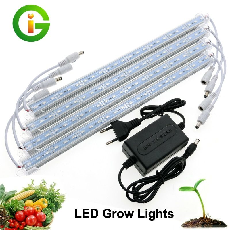 LED Grow Light 3 Red 1 Blue DC12V LED Bar Light Set IP68 Waterproof /Transparent Cover No Waterproof With Adapter