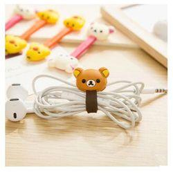 2 PCS coréenne Double - tête câble Animal de bande dessinée enrouleur facilement ours poussin casque bureau câble gestionnaire