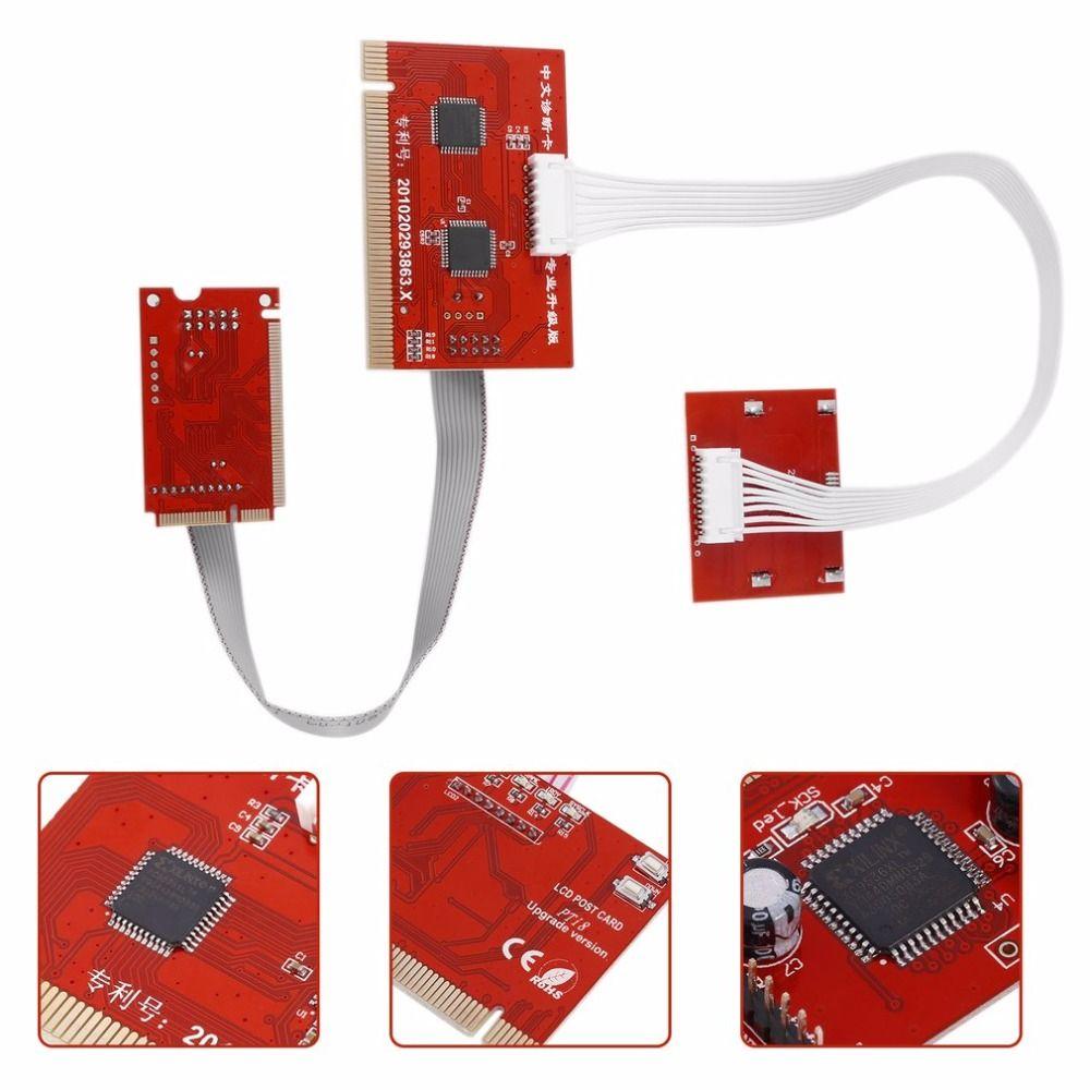 2017 neue Ankunft Tablet PCI Motherboard Analyzer Diagnose Tester Post Testkarte für PC Laptop Desktop PTI8 dropshipping