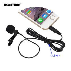 2 PCS 3.5mm Jack Microphone Lavalier Tie Clip-on Lapel Mikrofon Microfono Mic for Mobile Phone For Speaking Lectures Wholesale