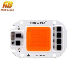 [MingBen] LED COB Chip para crece la luz planta espectro completo entrada 220 V 110 V 20 W 30 W 50 W para de interior planta de semillero crecen y florecen