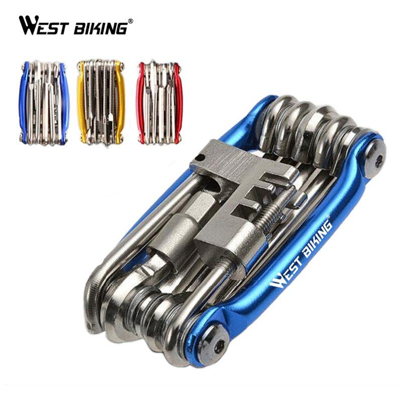 WEST vélo vélo Multi outil outils de réparation de vélo clé à rayons hexagonaux tournevis 10 en 1 Kit Set vélo de route vtt outils de cyclisme