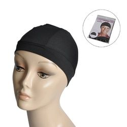 5pcs/lot Black Spandex Dome Caps For Making Wig Snood Nylon Strech Caps High&Tight Band Full Size For The Perfect Fit Wig Cap