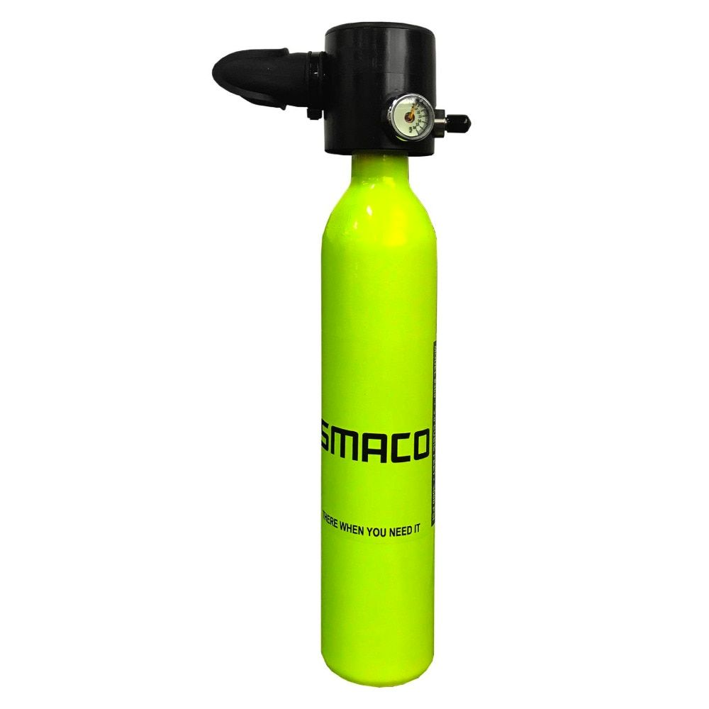 Smaco Diving Equipment Mini Scuba Diving Cylinder Scuba Oxygen Tank freedom breath underwater for 5 to 10 minutes 0.5L air TanK