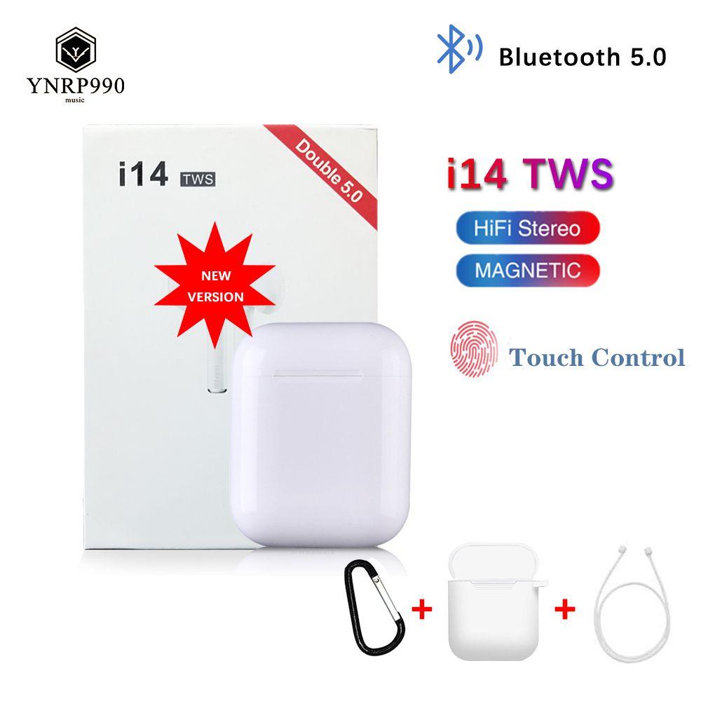 i14 tws Headset 1:1 In-ear Wireless fone Bluetooth 5.0 Earphone Earbuds Touch Control Sport for iphone xiaomi audifonos elari