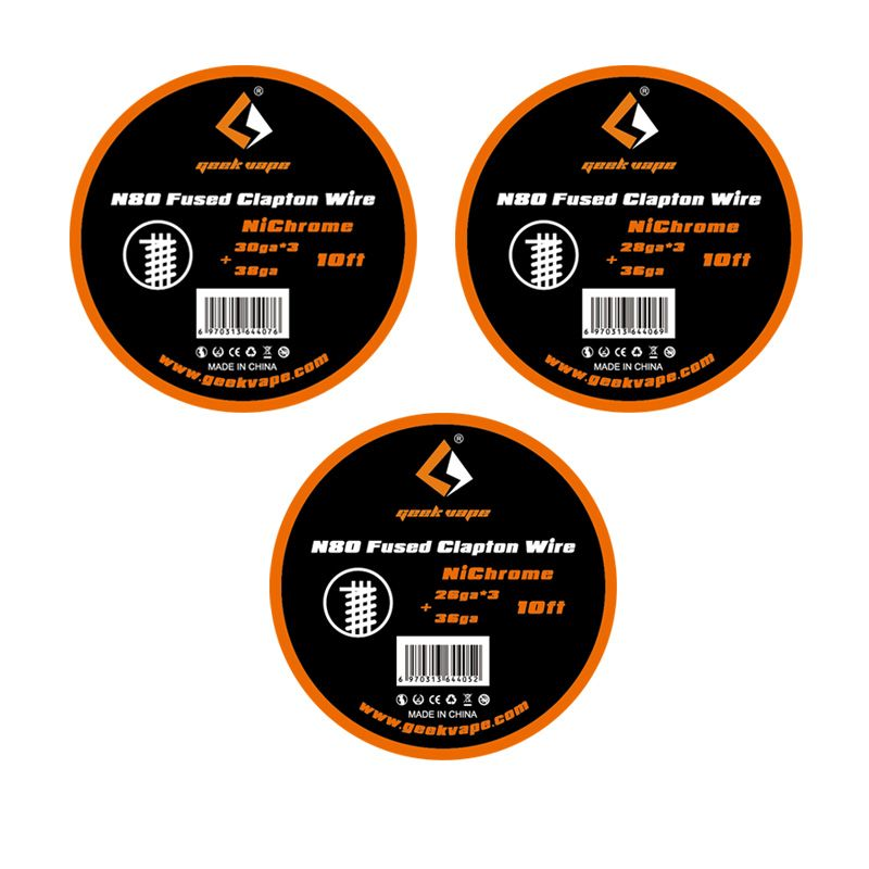 Original 10ft Geekvape N80 Fundido Clapton Alambre GeekVape Bobinas de Alambre para el Cigarrillo Electrónico RDA RDTA Atomizador RTA BRICOLAJE