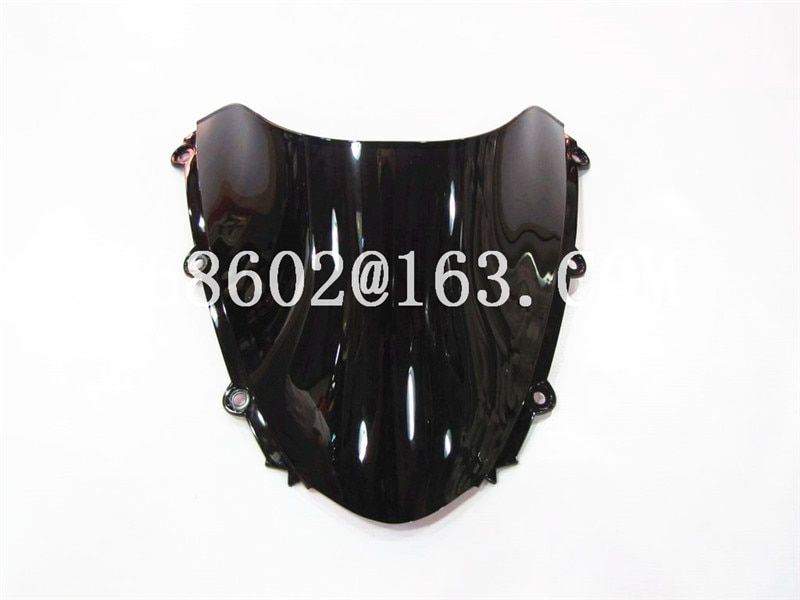 For Honda CBR 1000 RR 2004 2005 2006 2007 Black Windshield WindScreen Double Bubble cbr 1000 rr CBR1000 cbr1000 CBR1000RR