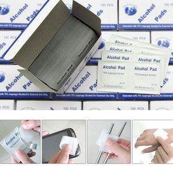 Portable 100 unids/caja alcohol swabs pads wipes limpiador de la piel esterilización 70% isopropilo Primeros Auxilios inicio viaje