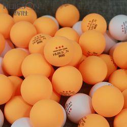 Bahan Huieson 50 Pcs/Pack 3 Bintang Baru Tenis Meja Ping Pong Balls Tenis Meja Balls 40 + ABS Plastik Aksesoris