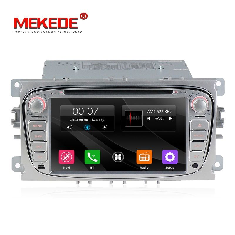 Wholesale! Two Din 7 Inch Car DVD Player For FORD/Mondeo/S-MAX/C-MAX/Galaxy/FOCUS 2 Radio FM GPS Navigation 1080P Ipod Free Map