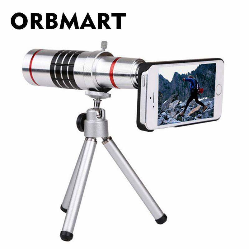 ORBMART 18X Zoom Optique Caméra Télescope Avec Trépied et Cas Couverture Arrière Pour iPhone 6 6 s Plus