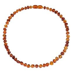 Baltic Amber Teething Necklace/Bracelet for Baby - Simple Package - 3 Sizes - 10 Colors - Lab Tested