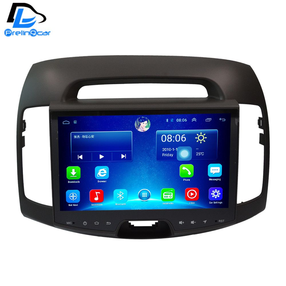 32G ROM android 6.0 car gps multimedia video radio player in dash for Hyundai Elantra  9 inch car navigaton stereo