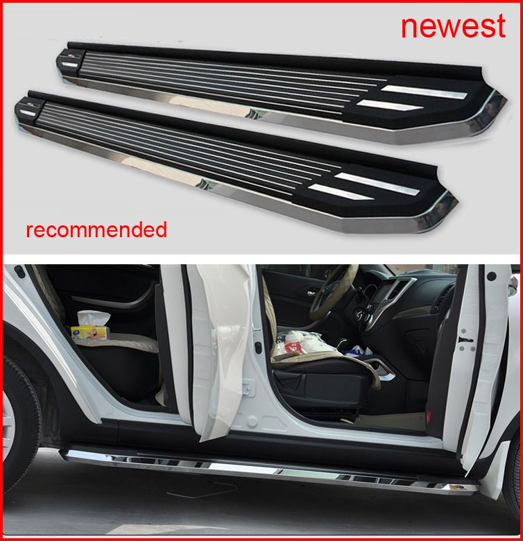 Thicken luxurious running board foot step nerf bar for Nissan X-trail Rogue 2014 2015 2016 2017 2018,load 300kg, promotion price