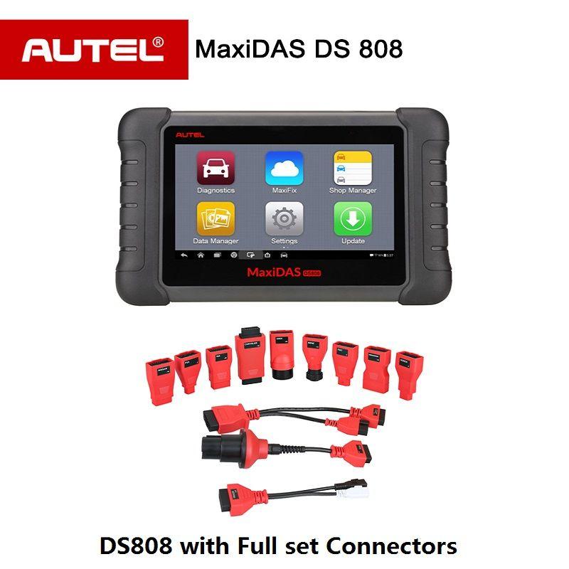 Autel Maxidas DS808 OBD2 Diagnosewerkzeug Upgrad von DS708 mit Vollen satz OBDI Adapter automotive Scanner Gleiche Funktion wie MS906