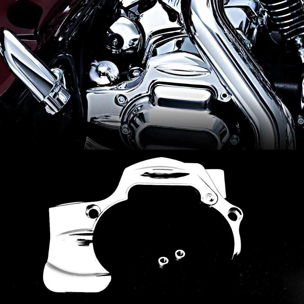Chrom Übertragung Shroud Abdeckung Für Harley Street Glide FLHX FLHXS CVO Road King 2009-2016 Modelle