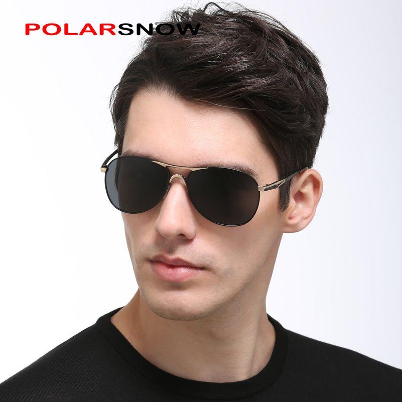 Polarsnow поляризационные Алюминий magesium Солнцезащитные очки для женщин для Для мужчин Брендовая Дизайнерская обувь 2017 Одежда высшего качества ...
