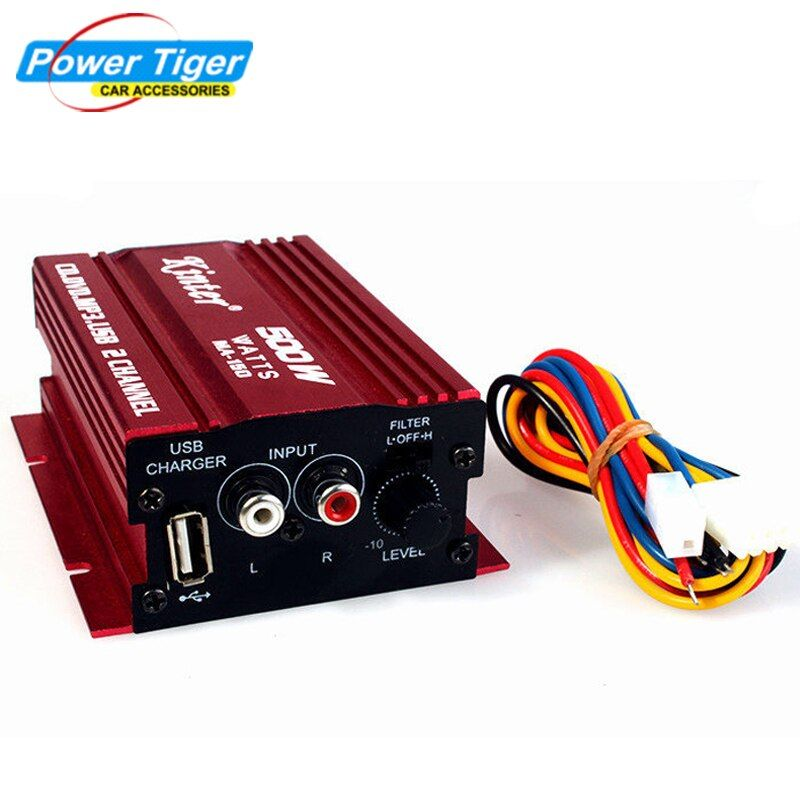 Kinter Hi-Fi 12V 2CH USB Mini Digital Auto Power Amplifier Subwoofer Car Audio Stereo amplifier Motorcycle / Boat /MP3/MP4/CD