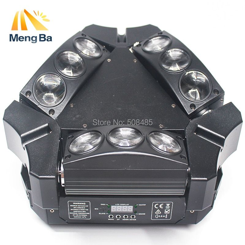 2018 New CREE MINI LED 9x10W Led Spider Light RGBW 16/48CH DMX Stage Lights disco light Spider Moving Head Beam Light party