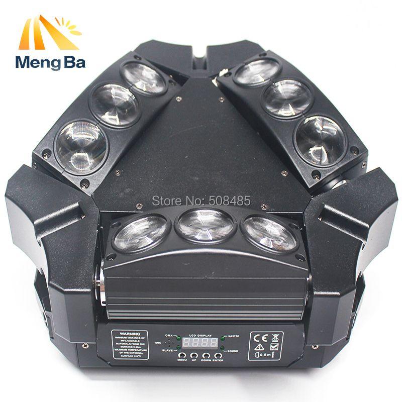 2018 nuevo cree mini led 9x10 W llevó la luz de la araña rgbw 16/48CH DMX etapa luces disco luz principal móvil de la luz de la araña del partido