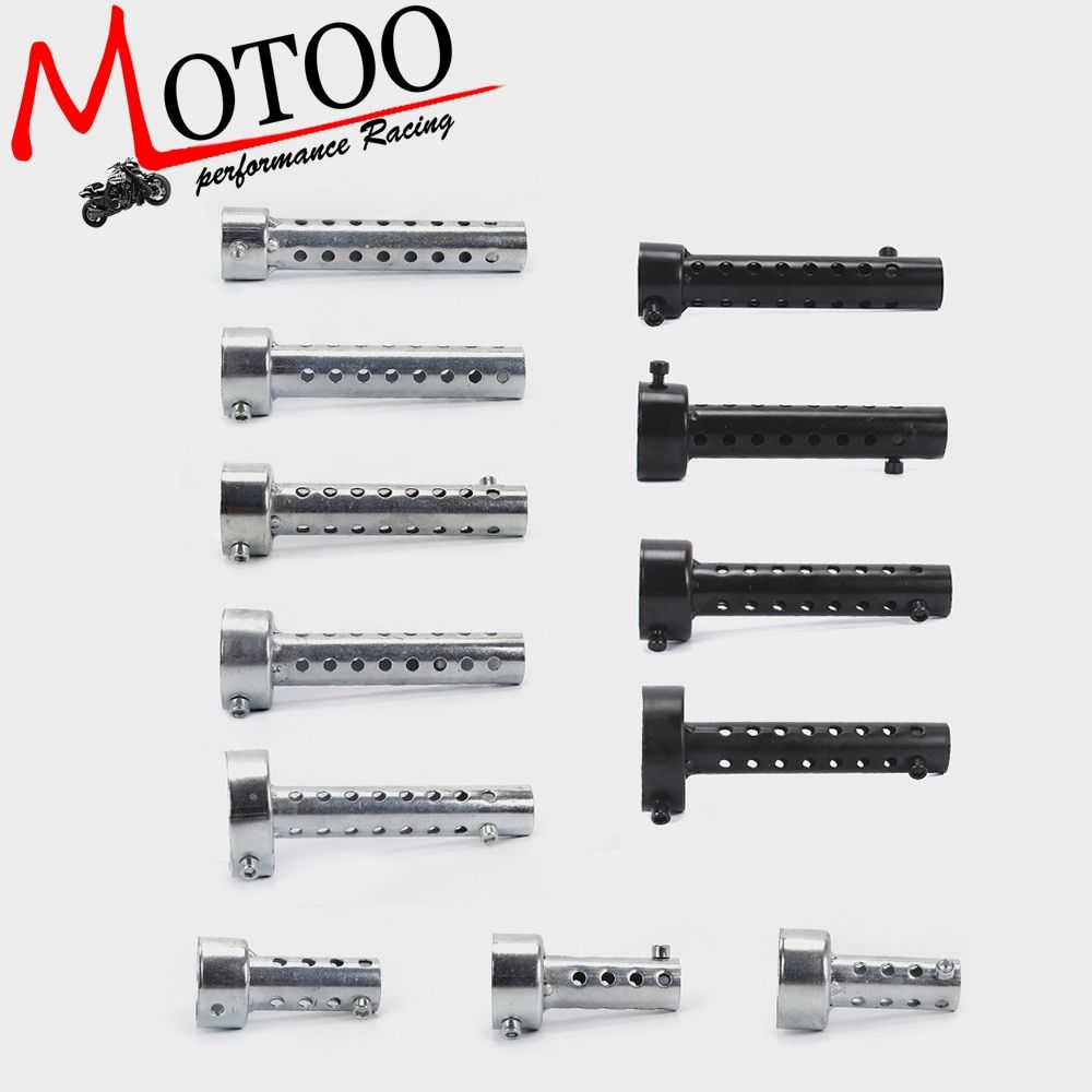 Motoo - 1 Pcs 35mm/42mm/45mm/48mm/60mm Black Silver Universal Motorcycle Exhaust Can Muffler Baffle DB Killer Silencer
