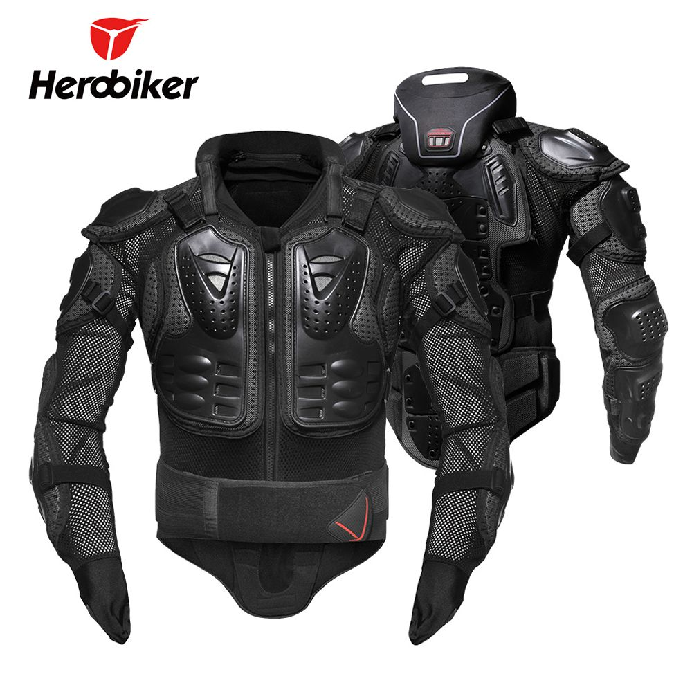 HEROBIKER Motorcycle Armor Removable Neck Protection Guards Motorcycle Jacket Racing Protective Gear Full Body Armor Protectors