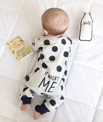 2018 Hot selling Fashion Baby Boy Girl Clothes Newborn Toddler Long-sleeved Dot jumpsuit Infant Clothing set Outfits