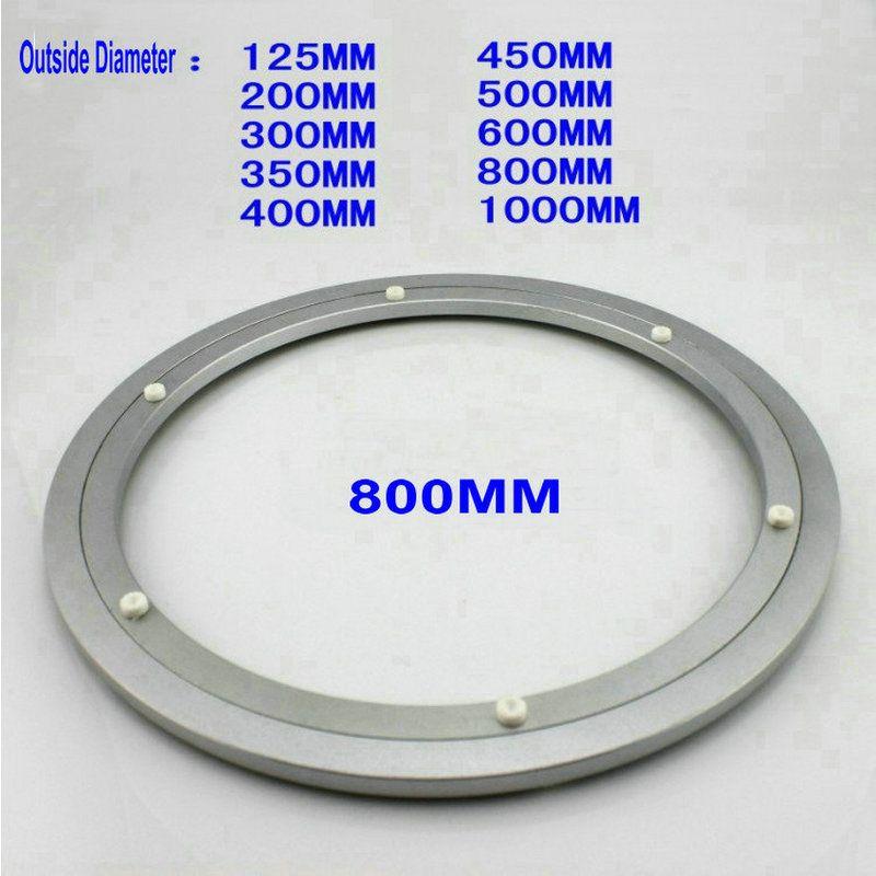 HQ H8 diamètre extérieur 800 MM (32 pouces) calme et lisse en Aluminium massif paresseux Susan plateau rotatif Table à manger