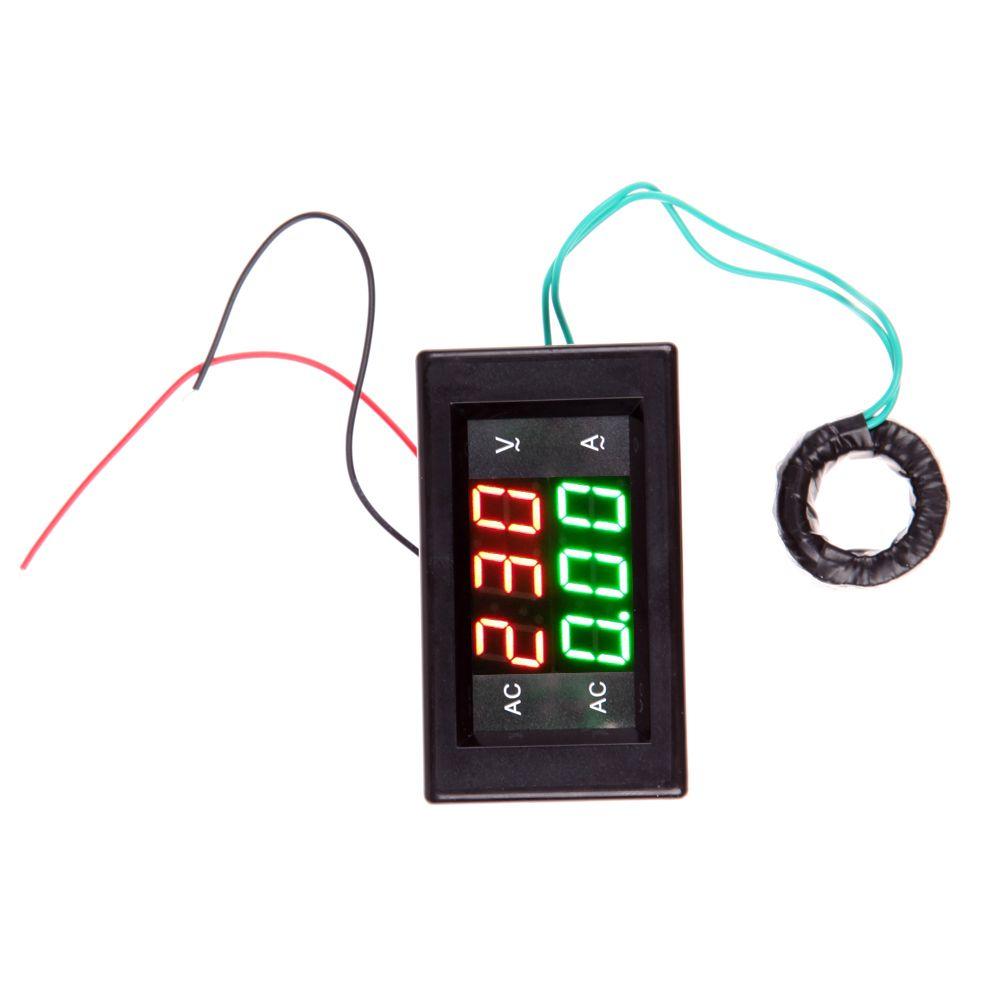 Car AC 500V 100A Digital Voltmeter Ammeter LED Amp Volt Meter +CT (Shunt) Universal Power Energy Tester with Current Transformer