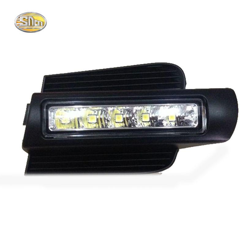 SNCN LED Daytime Running Light for Toyota Prado 120 LC120 GRJ120 Land cruiser 2003~2009 Fog lamp drl bumper light