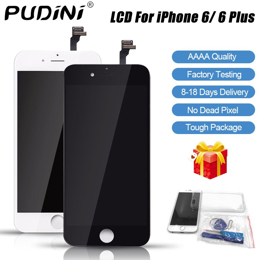 PUDINI AAAA 100% Original Screen LCD For iPhone 6 Plus LCD Replacement Display Touch 6 Plus Screen Tool Kits Screen LCDS