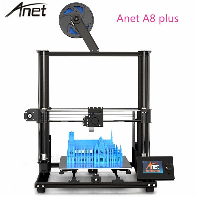 2019 Anet a8 plus upgrade version DIY 3d drucker kit Hohe Präzision Metall Desktop imprimante 3d 300x300 x 350mm PK anet a8 drucker