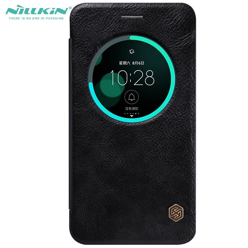 Flip Window Cover For Asus Zenfone 3 ZE552KL Nillkin Qin High Quality Leather Protective Case For ZENFONE 3