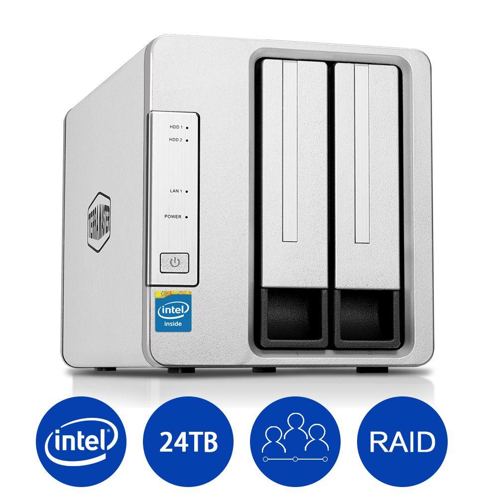 NAS Networking Storage 2 Bays Nas Server Intel Dual Core 2.41GHz Nas Serwer Support Single disk JBOD RAID 0 RAID 1(DISKLESS)