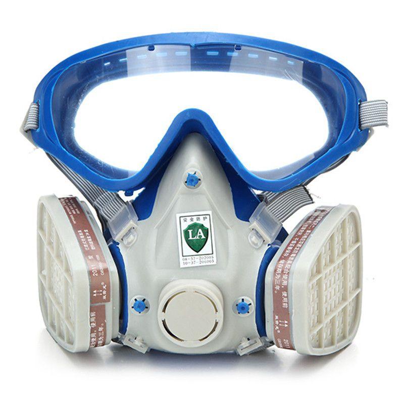 Gas Umfassende Abdeckung Farbe Chemische Maske & Goggles Pestizid Staubdicht Feuerleiter atemschutzmaske kohlefilter maske