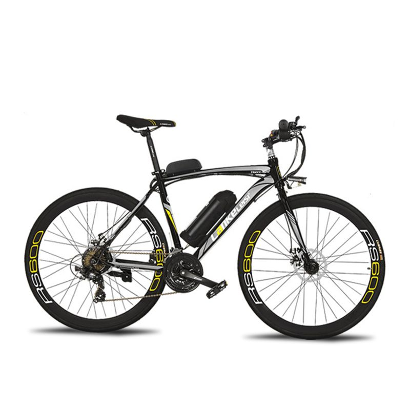 Cyrusher RS600 Road Electric Bike 240W 36V 15HA Lithium Battery 21 Speed 700Cx28C 50CM Carbon Steel Frame with Smart LCD Display