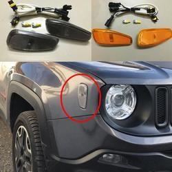 Blinker kopf licht seite lampe für 2015 2016 für jeep renegade zubehör Seite Reflexion Warnsignal Licht Abdeckung
