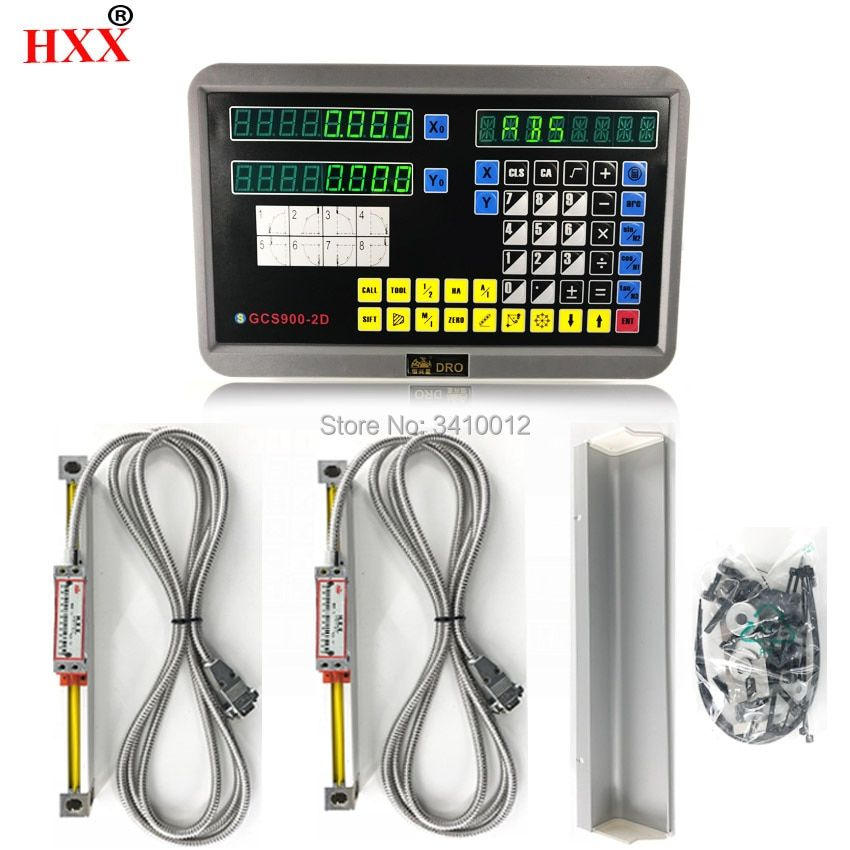 level measuring instrument tools complete 2 axis dro set/kit with 2 pcs linear glass scales for mill/lathe machine
