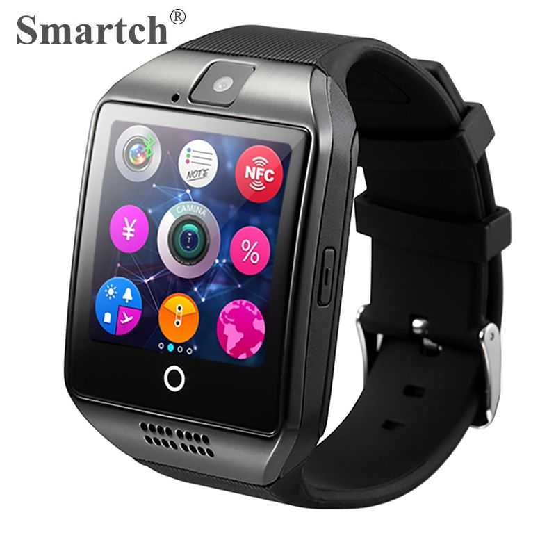 Smartch Q18 Smart Watch,Sim Card Watch Phone,Arc Screen,Bluetooth Smartwatch,Camera,Large Dial Smart Clock,Capacity Touch Screen