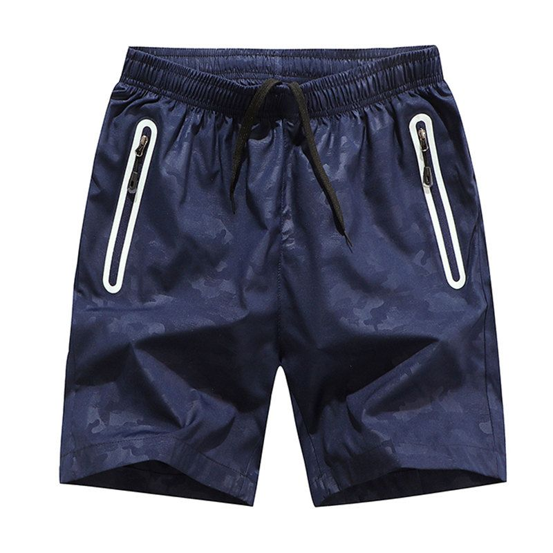 JOOBOX men's casual shorts Summer Cool Casual Male Elastic Waist Bermuda Shorts Black Men Breathable Quick Dry Shorts